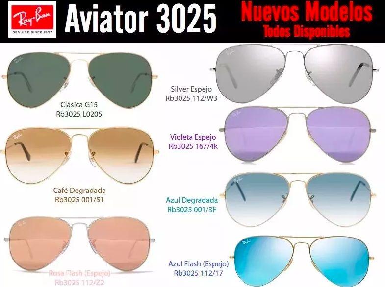 2cf24f6bc1 Gafas Rayban Aviador 3025 Orginales Mas Colores Y Tamaños - Quito