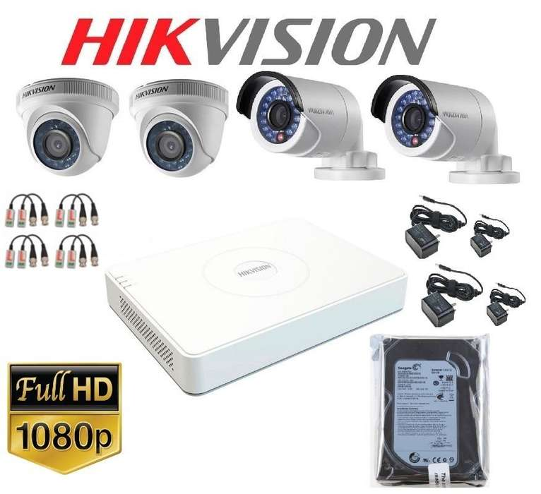 kit de 04 camaras de seguridad FULLHD1080p CCTV completo ... CERRO DE PASCO