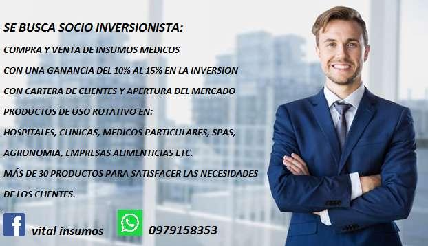 SOCIO INVERSIONISTA PARA CREAR UNA MICROEMPRESA DE INSUMOS MEDICOS