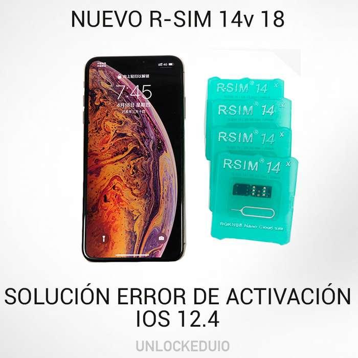 Rsim 14 v18 Desbloquea iPhone Xs,x,8,7,6,5 (ios 12.4)