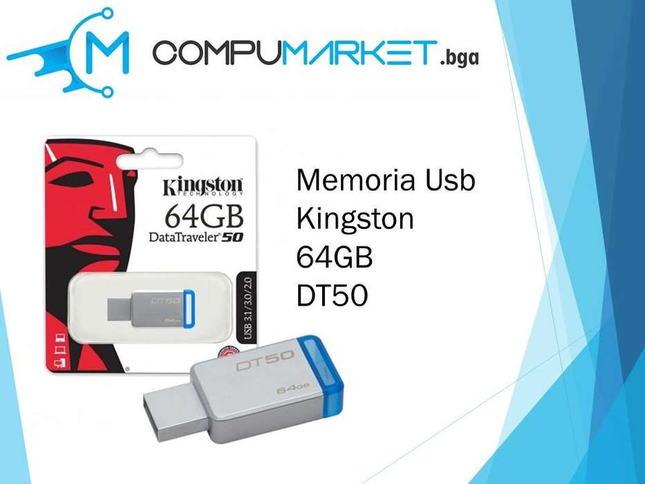 Memoria usb kingston 64gb dt50 nuevo y facturado