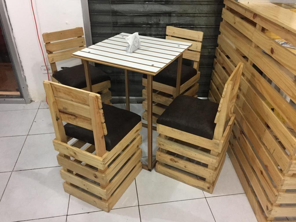 Mesas y sillas rusticas, juego de comedor. - Guayaquil