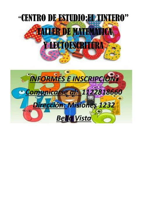taller de lectoescritura para primaria