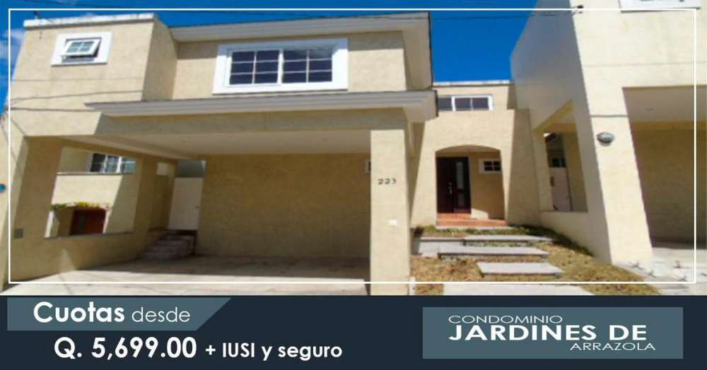 VENDO CASA EN JARDINES DE ARRAZOLA FINANCIADA