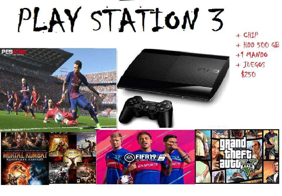 PLAY STATION 3 CHIPEADO