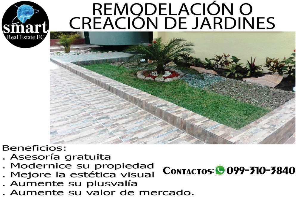 REMODELACIÓN Y CREACIÓN DE JARDINES - QUITO