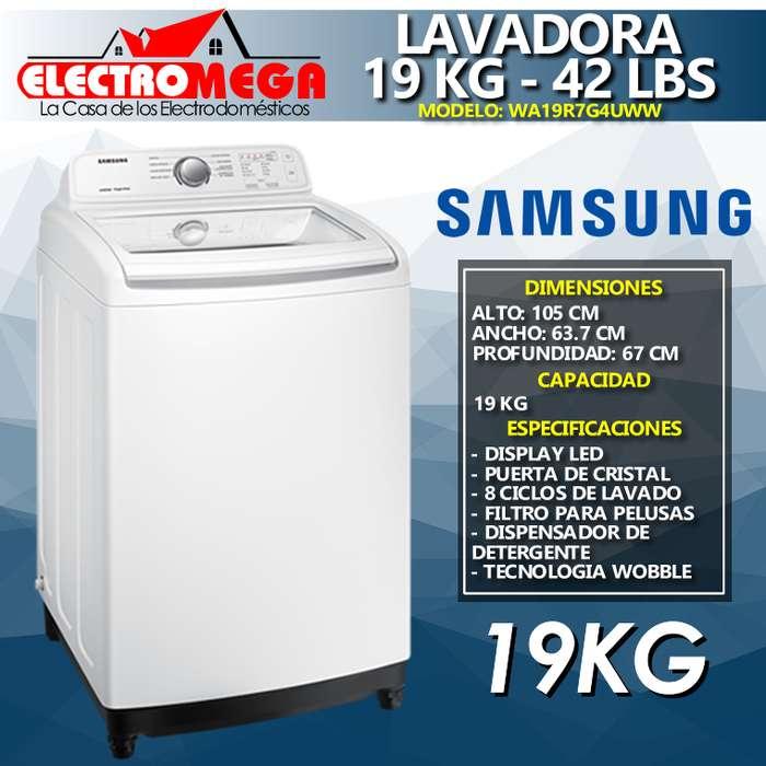 Lavadora Samsung 19kg 42 Lbs Carga Superior Puerta De Vidrio