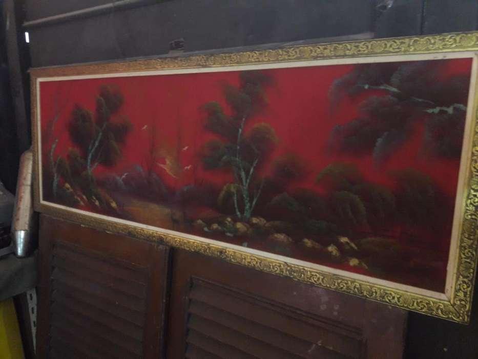 Gran Pintura Oriental Antigua