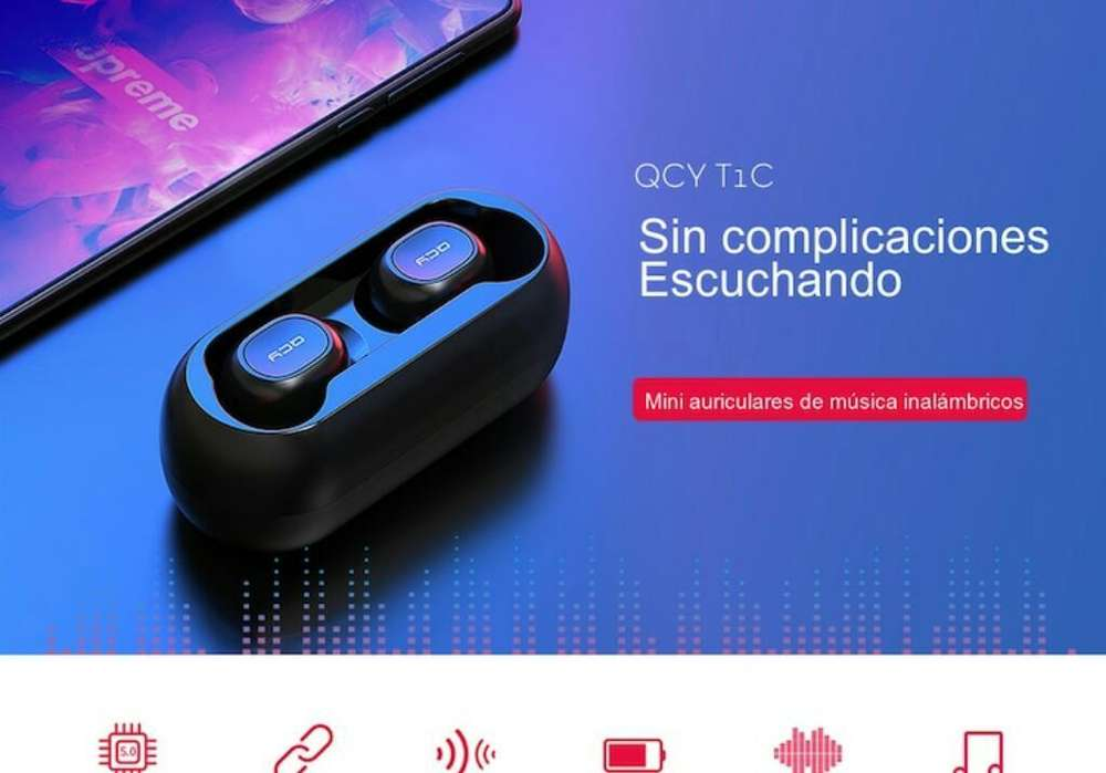 Auriculares Qcy Qs1 Blanco-negro