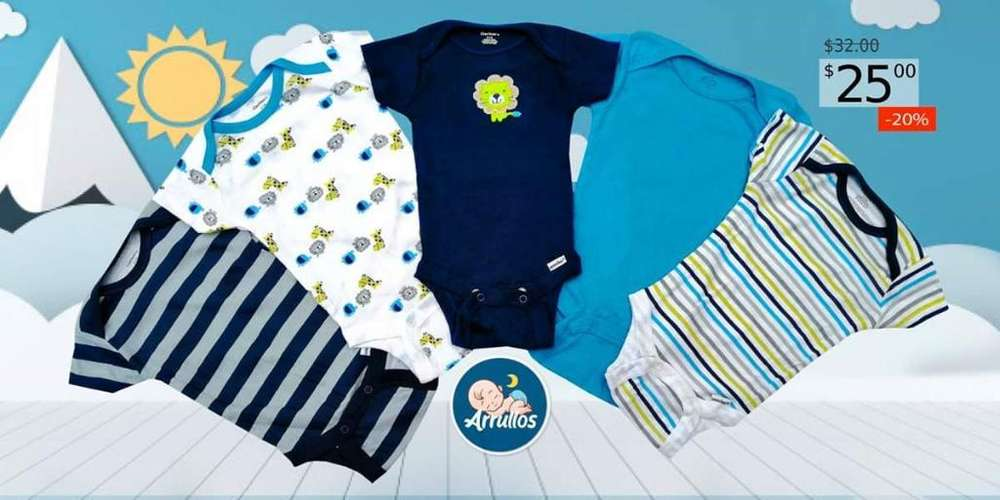 Bodys Bebe Pack 5 X 25 Niños <strong>ropa</strong>