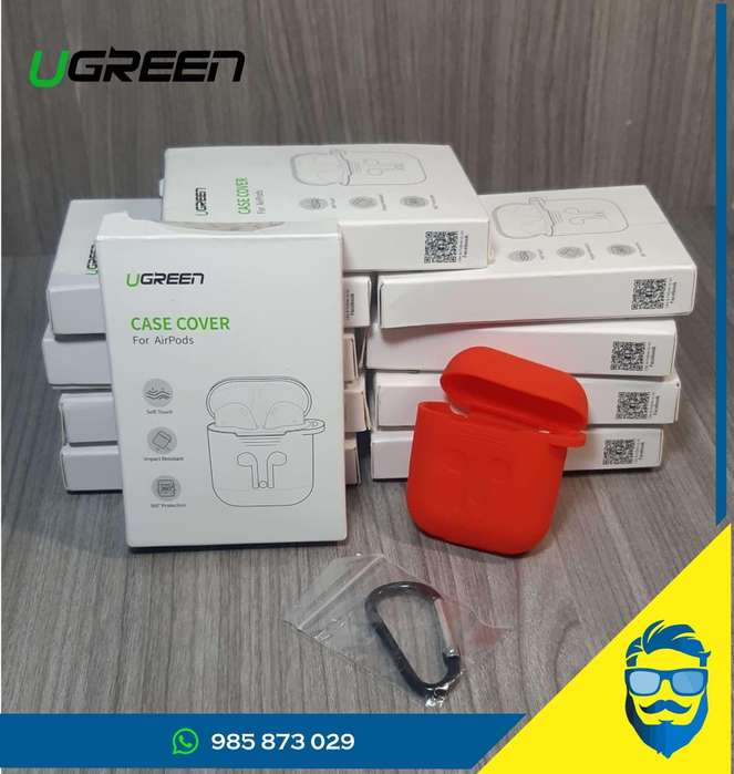Protector Rojo para Airpods (ugreen).
