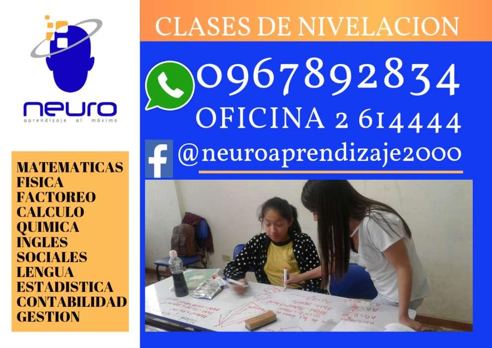 CLASES DE MATEMATICAS, FISICA, QUIMICA, INGLES, ENTRE OTRAS!!! 0967892834 - 2614444