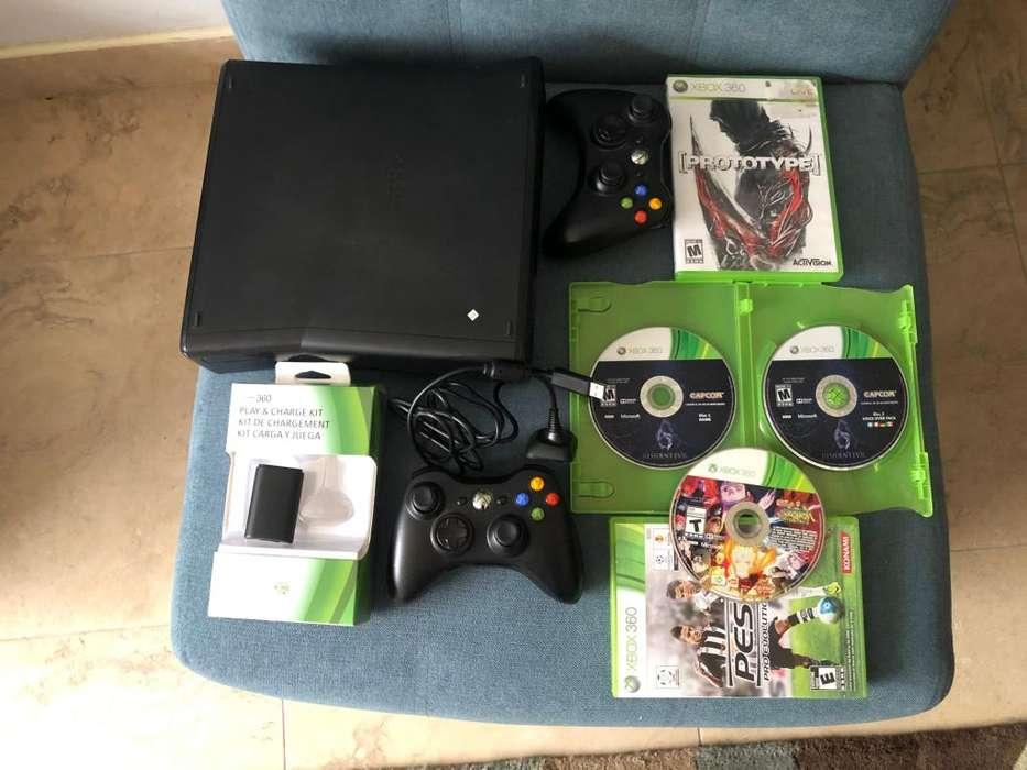 Xbox 360 dos controles 4 juegos todo original