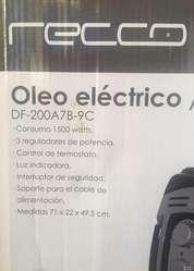 Calefactor de Oleo Electrico marca Recco