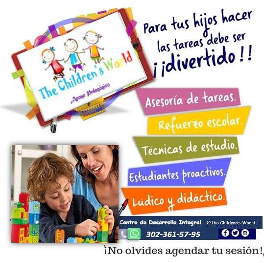 Refuerzo escolar y apoyo Psicopedagógico para niños