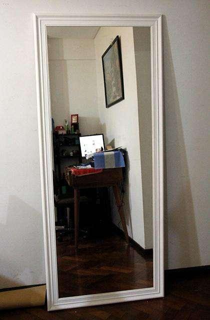 Espejos con Marco de Moldura Blanco