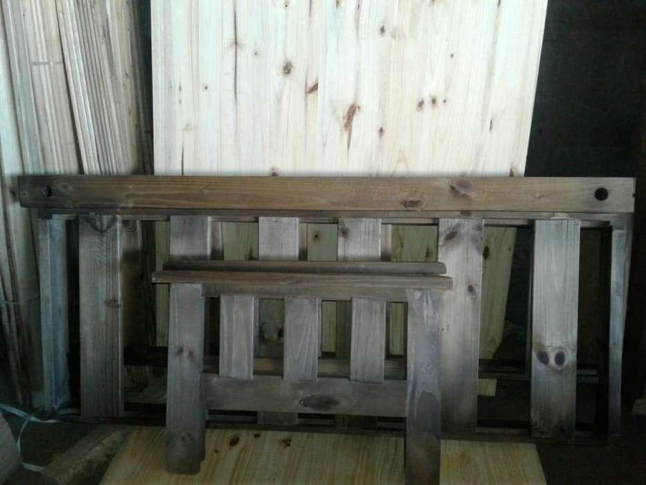 Futon de madera 1.40 metros a 8060 pesos!!!!