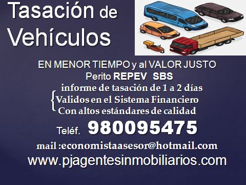 PERITO VALUADOR DE VEHICULOS
