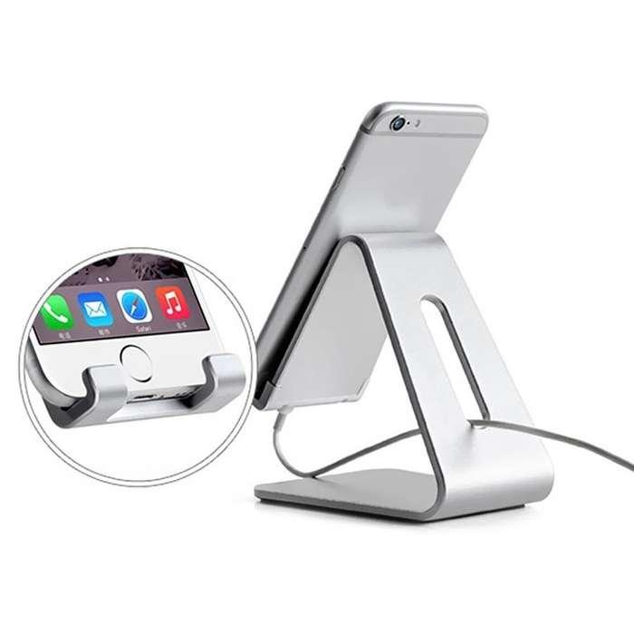 Holder Dock Soporte Stand Celular y Tablet de Aluminio Premium