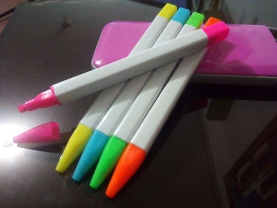 Set resaltadores fluorescentes c/caja