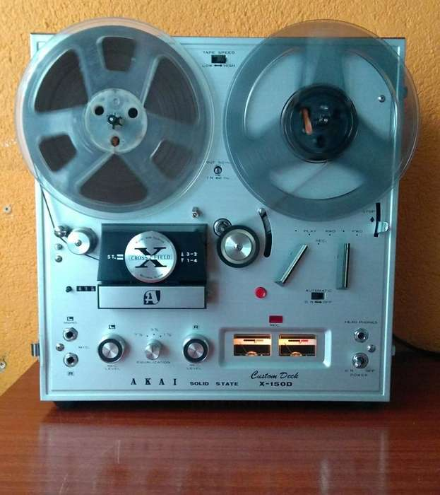 Grabadora antigua de carreto AKAI X-150D de 7 Pulgadas, equipo vintage