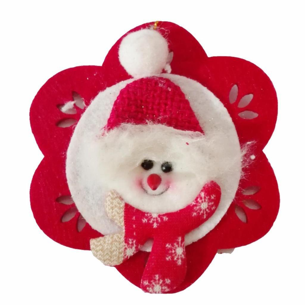 Adorno Árbol Navidad Hombre Nieve copo 10Cm decoracion casa sala regalo