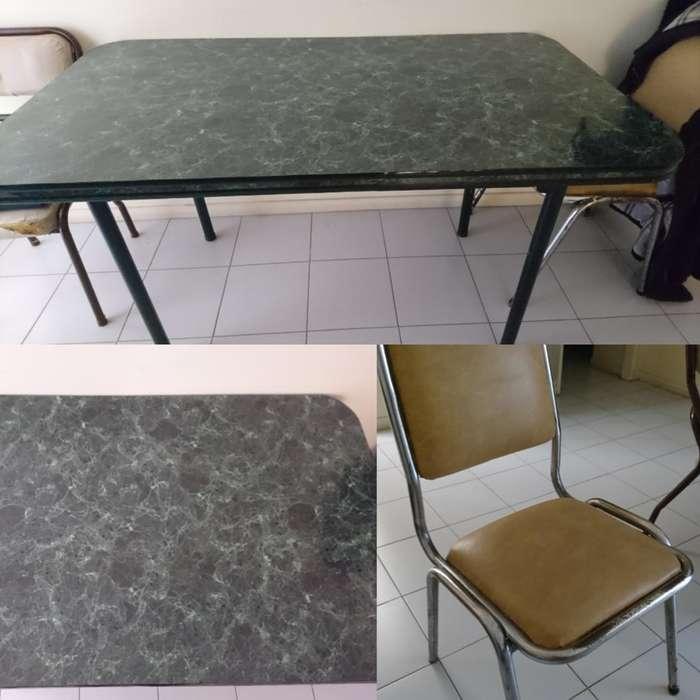 Vendo Mesa de Formica 3 <strong>silla</strong>s