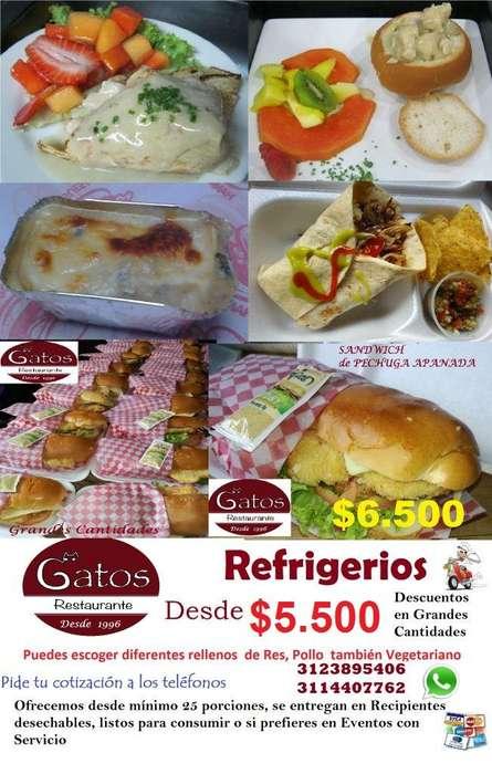 VENTA Refrigerios, Sándwiches, Lasañas, Crepes, domicilios Bogotá