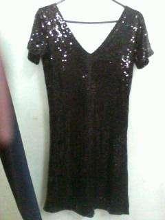 Vestido de Fiesta Negro con Paillets