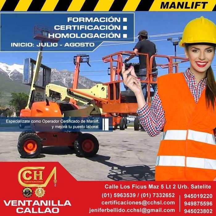 CURSOS OPERADORES DE MANLIFT TELESCOPICA, ARTICULADA Y VERTICAL, CAPACITACION, CERTIFICACION Y HOMOLOGACION