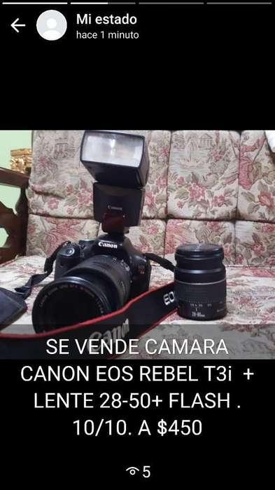 Camara <strong>canon</strong> Eos T3i Lente 28-50.10/1)