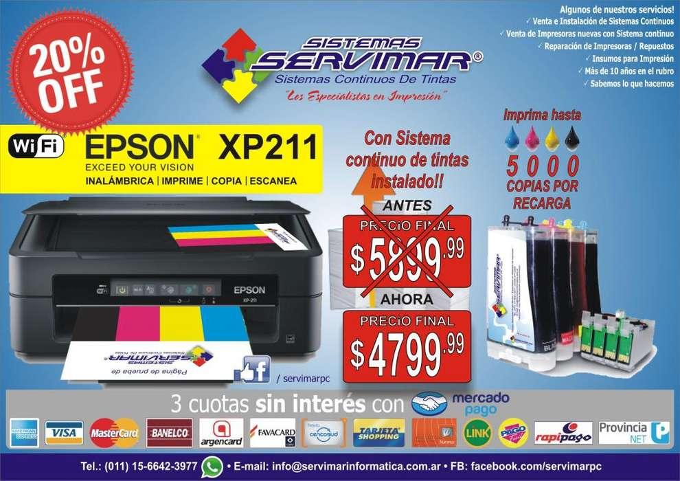 Epson XP211/XP231 con Sistema continuo OFERTA