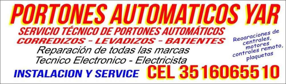 servicio técnico de portones automáticos YAR