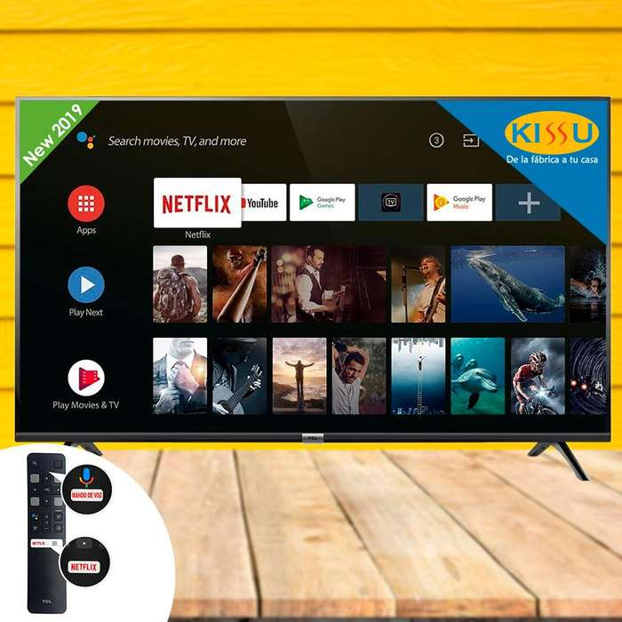 Tv Smart Tcl android mando de voz bluetooth 2 años de garantia