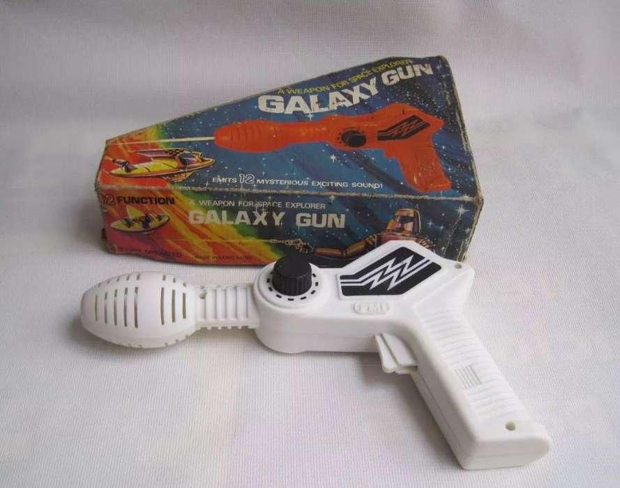 Antigua Pistola Espacial Galaxy Gun Plastico Funciona Caja