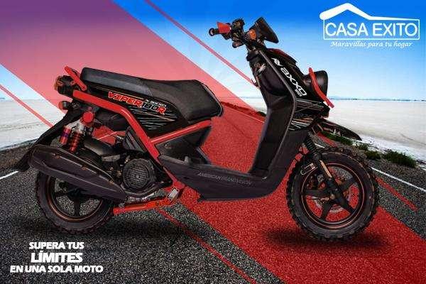 Moto Axxo Viper 180r Año 2019 180cc Color Negro / Rojo / Azul Casa Éxito