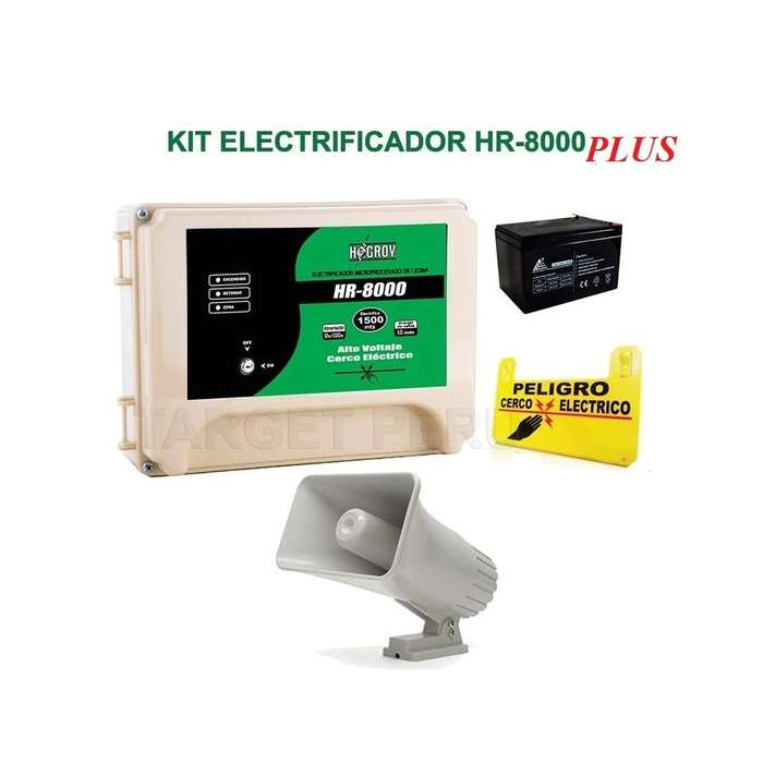 Kit Cerco Electrico Hagroy Hr8000 Plus 10.000 Metros Con Smd