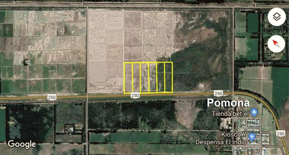 Oportunidad Terreno 1 Ha sobre RN 250 a 2km de Pomona - Rio Negro