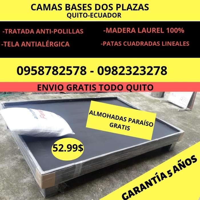 Camas Bases Somieres Dos Plazas