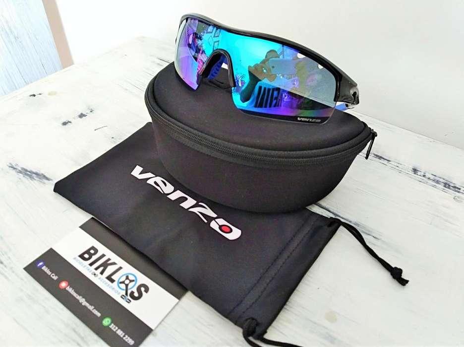 Gafas Venzo VZF27 negro azul con protección UV categoria 3