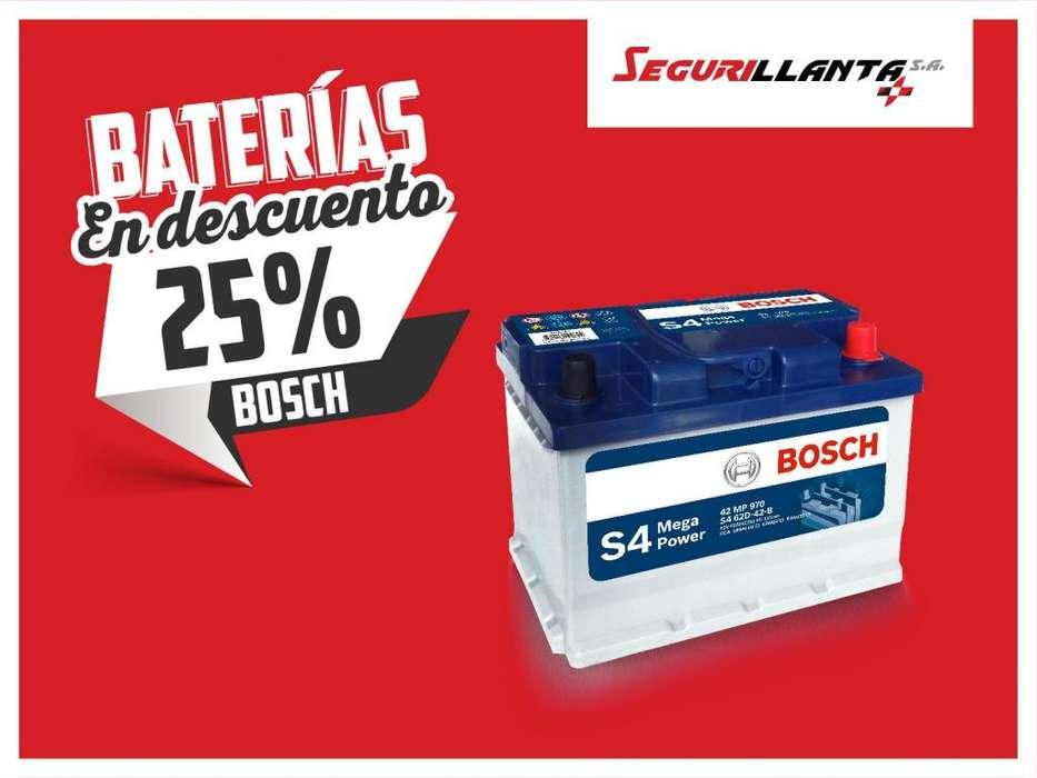 25 % de Descuento Baterías Bosch - Segurillanta.