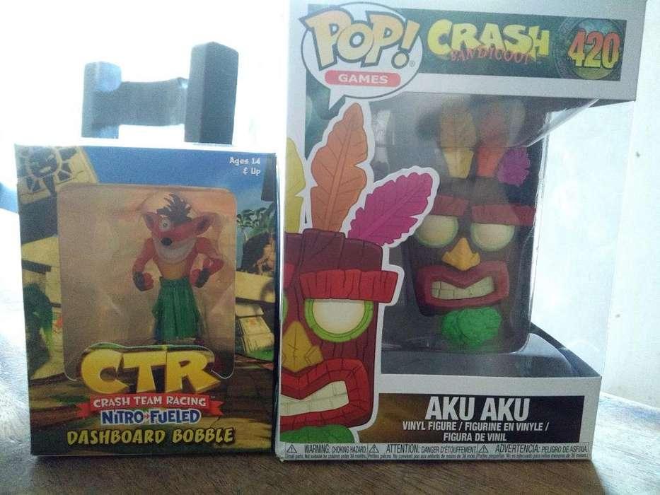 2 Funko Pops Crash Kart