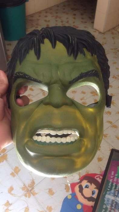 Mascara Hulk Original 15 Y Muñeco Marvel