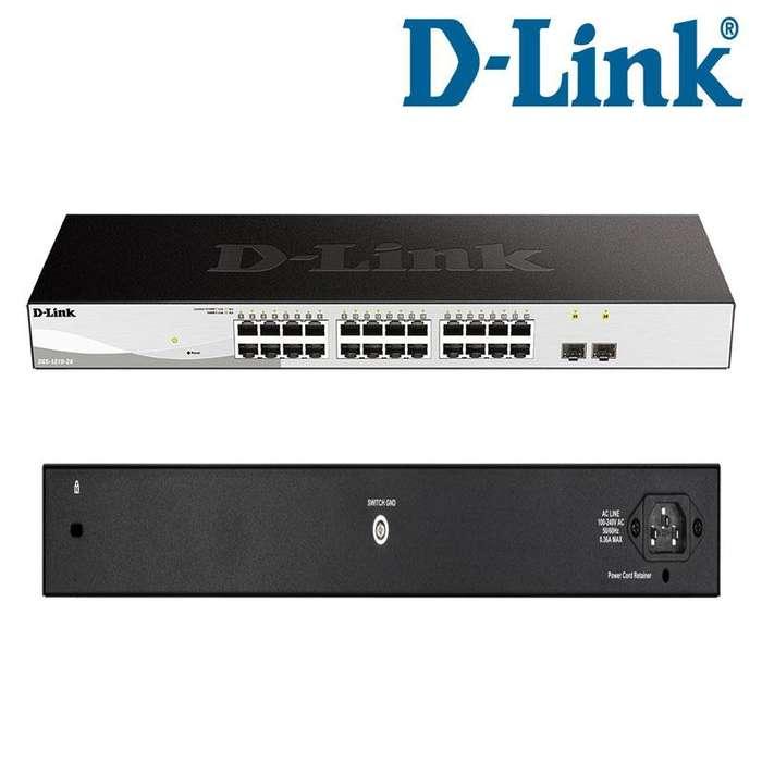 Switch Administrable DLINK DGS121026, 24 Puertos RJ45 10/100/1000 Mbps, 2 Puertos SFP 1GbE, Capa L2/L3, 24 RJ45 GbE