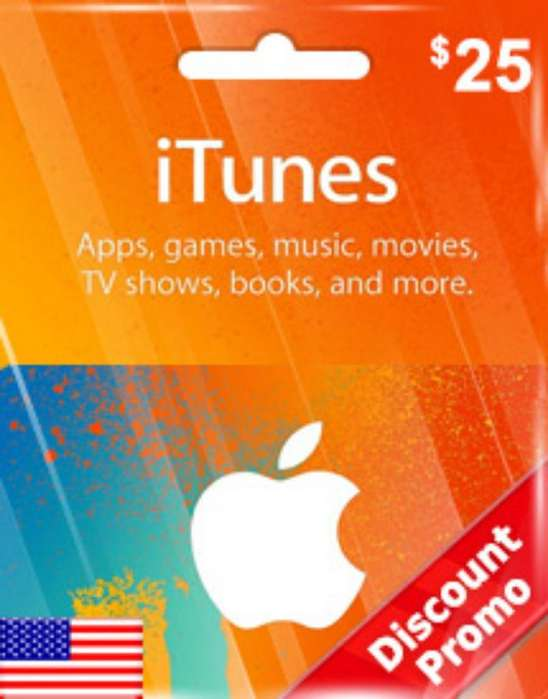 Itunes Gift Card, Usd 25 (usa)