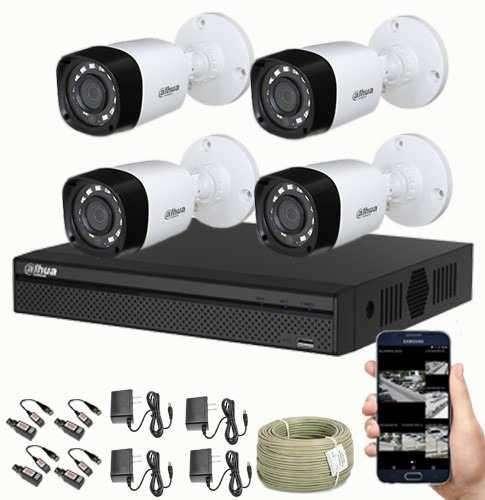 CAMARAS DE SEGURIDAD KIT CCTV 720 DAHUA MAS 4 CAMARAS