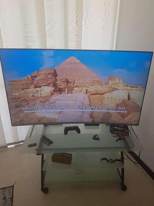 Tv Samsung 4k Y Mesa Vidrio Templado