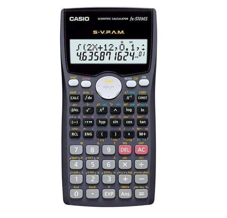 Calculadora científica profesional CASIO fx570MS de 401 funciones NUEVA