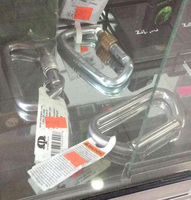 mosqueton profesional de carga mosquetones aplinistas nuevos pidelos al 3005699844 whatsapp envio toda colombia