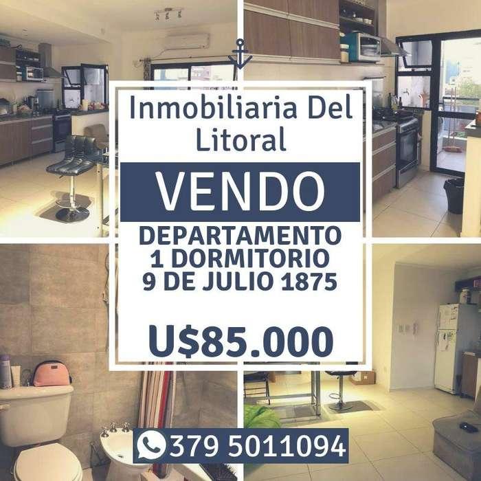 !!! VENDO !!! DEPTO DE 1DORM. EDIF. ALTA CRUZ - 9 DE JULIO 1875